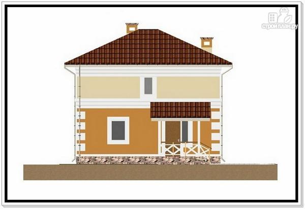 Фото 2: проект дом из пеноблоков с 4 х скатной крышей