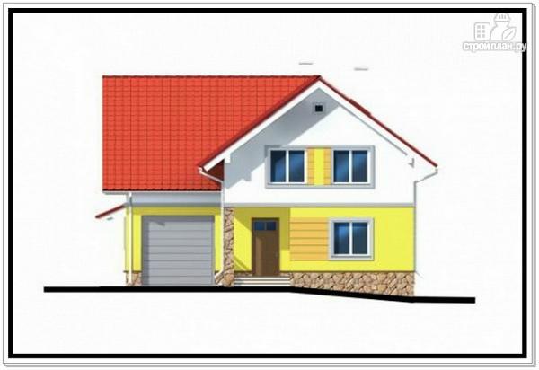 Фото 3: проект загородный дом из пеноблоков с гаражом