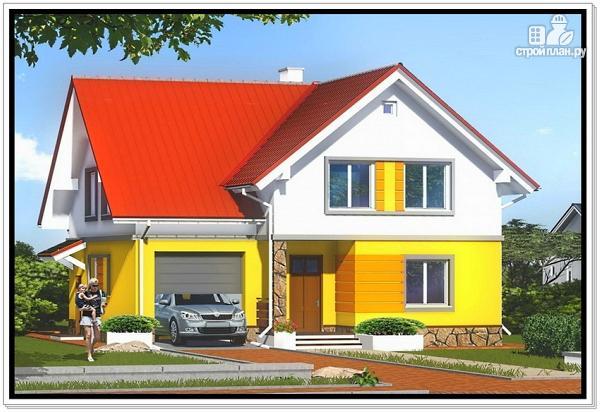 Фото: проект загородный дом из пеноблоков с гаражом