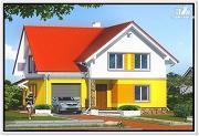 Фото: загородный дом из пеноблоков с гаражом
