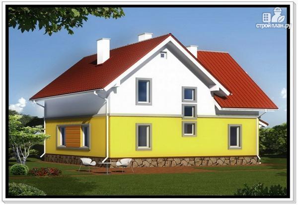Фото 2: проект загородный дом из пеноблоков с гаражом