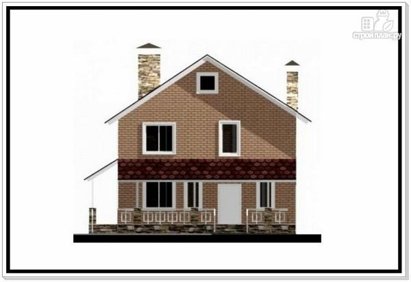 Фото 2: проект загородный дом из пеноблоков с террасой