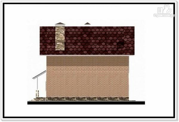 Фото 3: проект загородный дом из пеноблоков с террасой