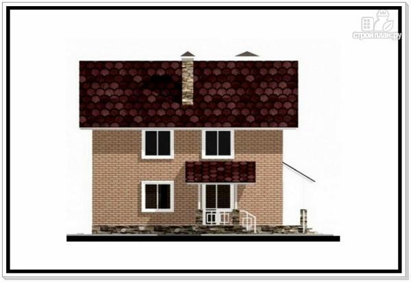 Фото 4: проект загородный дом из пеноблоков с террасой