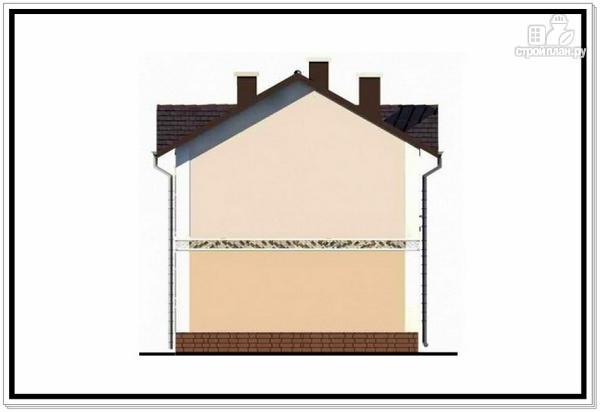 Фото 5: проект загородный дом из пеноблоков с балконом