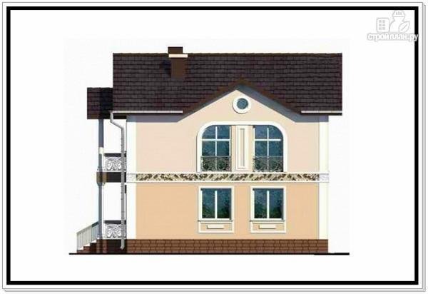 Фото 4: проект загородный дом из пеноблоков с балконом