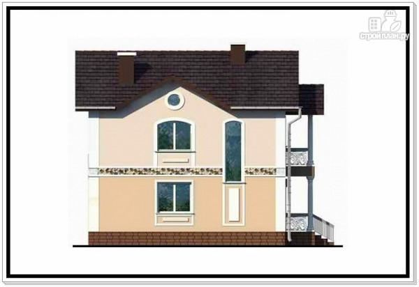 Фото 6: проект загородный дом из пеноблоков с балконом