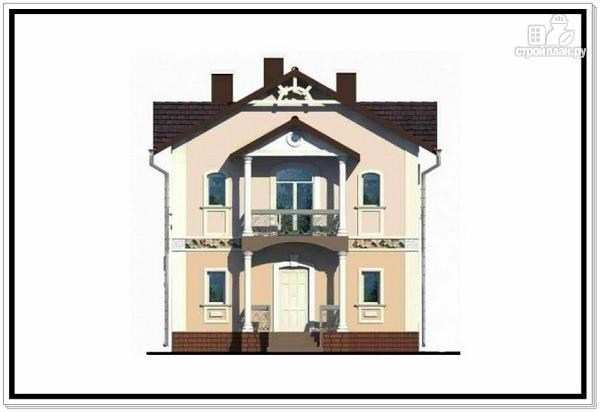 Фото 3: проект загородный дом из пеноблоков с балконом