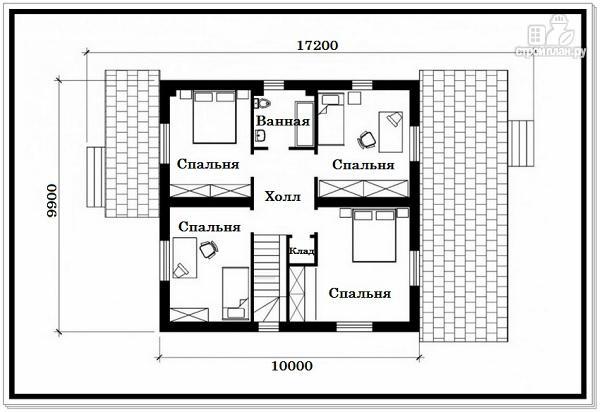 Фото 8: проект дом из пеноблоков с крыльцом и террасой