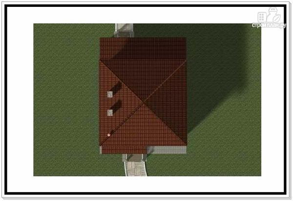Фото 9: проект дом из пеноблоков с крыльцом и террасой