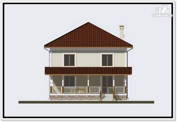 Фото 5: проект дом из пеноблоков с крыльцом и террасой