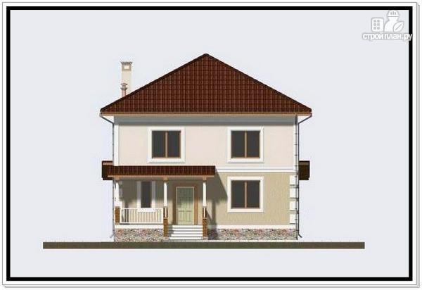 Фото 3: проект дом из пеноблоков с крыльцом и террасой