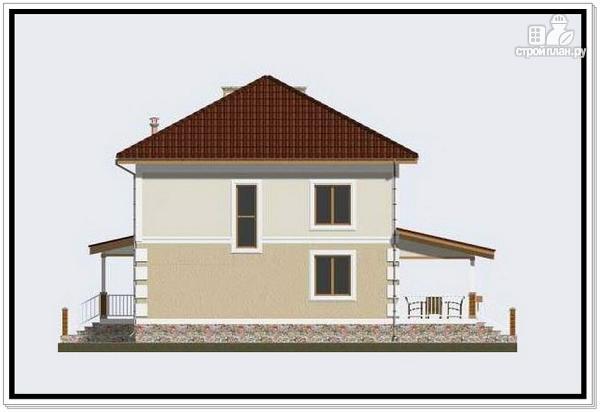 Фото 4: проект дом из пеноблоков с крыльцом и террасой