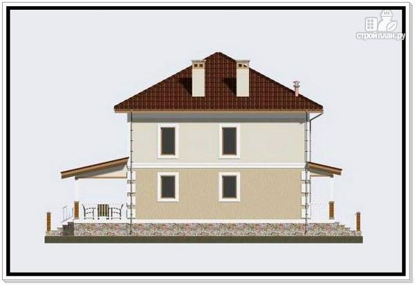 Фото 6: проект дом из пеноблоков с крыльцом и террасой