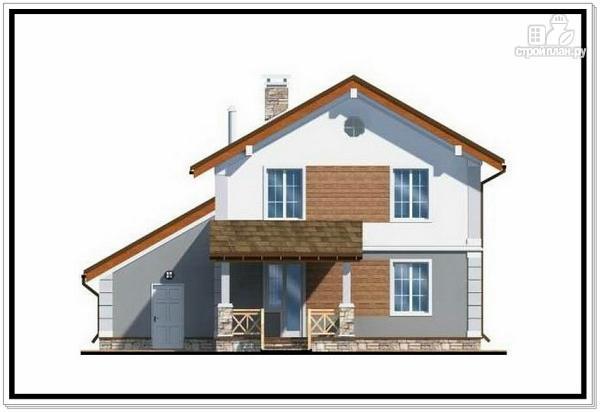 Фото 5: проект дом из пеноблоков с балконом