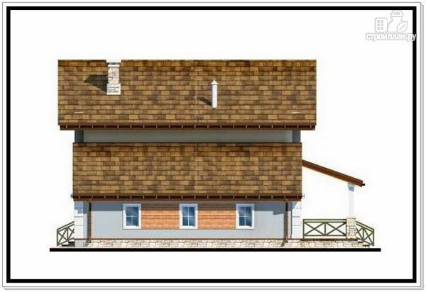 Фото 4: проект дом из пеноблоков с балконом