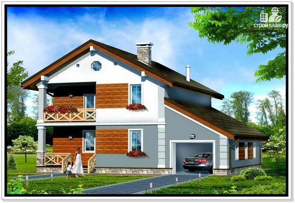 Фото: проект дом из пеноблоков с балконом