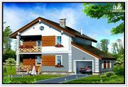 Проект дом из пеноблоков с балконом