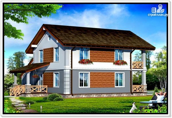 Фото 2: проект дом из пеноблоков с балконом