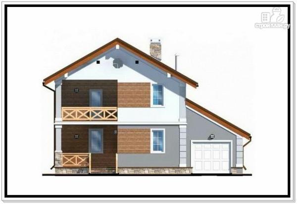 Фото 3: проект дом из пеноблоков с балконом