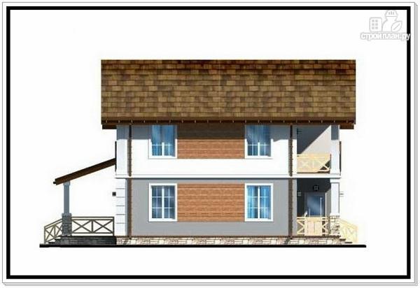 Фото 6: проект дом из пеноблоков с балконом