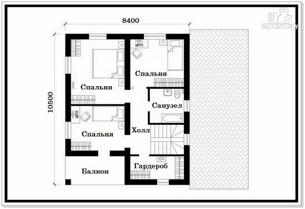 Фото 8: проект дом из пеноблоков с балконом