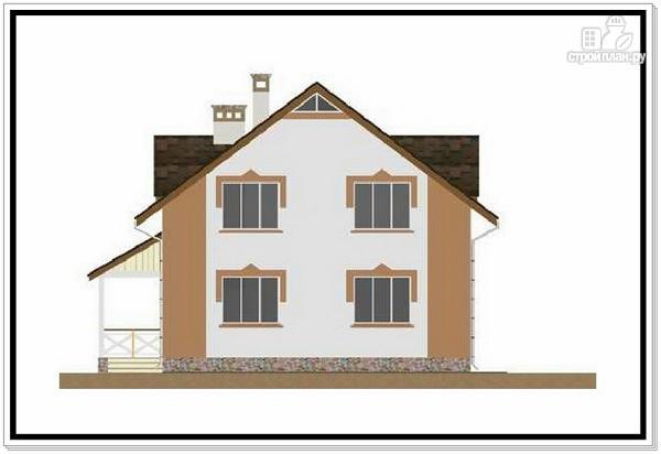 Фото 3: проект 1,5 этажный дом из пеноблоков