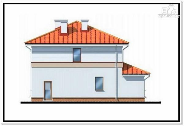 Фото 4: проект дом из пеноблоков с лоджией