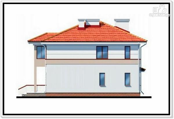 Фото 5: проект дом из пеноблоков с лоджией