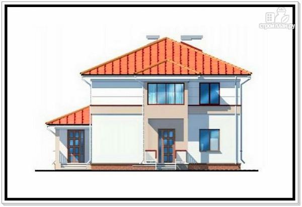 Фото 3: проект дом из пеноблоков с лоджией