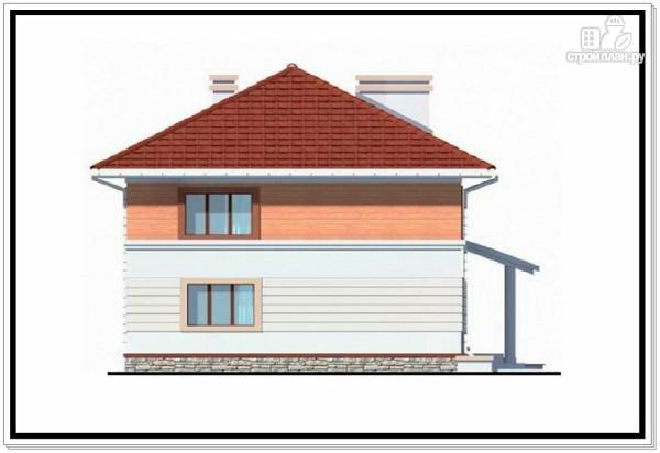 Фото 4: проект дом из пеноблоков с вальмовой крышей и гаражом