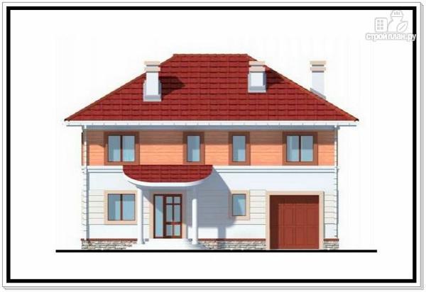 Фото 3: проект дом из пеноблоков с вальмовой крышей и гаражом