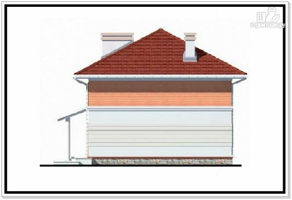 Фото 6: проект дом из пеноблоков с вальмовой крышей и гаражом