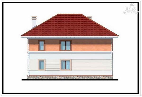 Фото 5: проект дом из пеноблоков с вальмовой крышей и гаражом