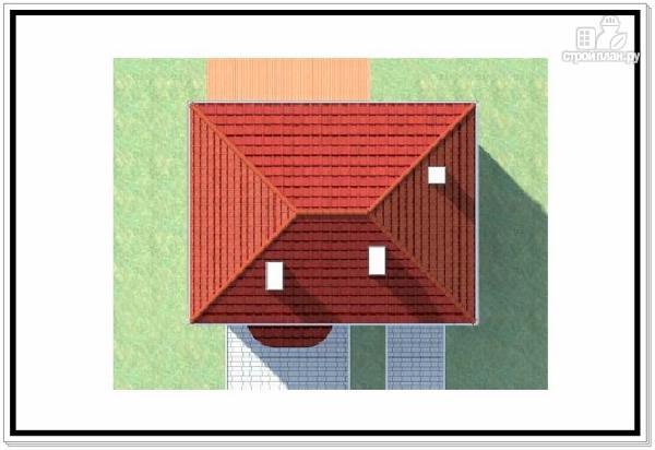 Фото 9: проект дом из пеноблоков с вальмовой крышей и гаражом