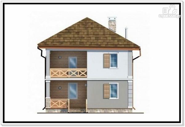 Фото 3: проект дом из пеноблоков с вальмовой крышей
