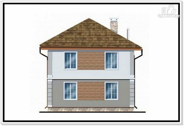 Фото 4: проект дом из пеноблоков с вальмовой крышей