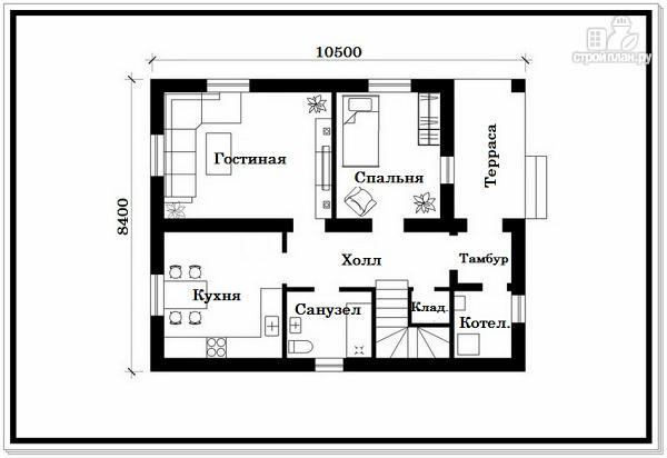 Фото 7: проект дом из пеноблоков с вальмовой крышей