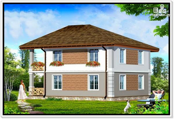 Фото 2: проект дом из пеноблоков с вальмовой крышей