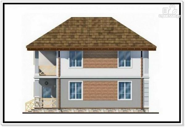 Фото 5: проект дом из пеноблоков с вальмовой крышей