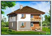 Фото: дом из пеноблоков с вальмовой крышей
