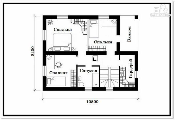 Фото 8: проект дом из пеноблоков с вальмовой крышей