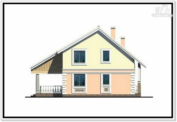 Фото 3: проект дом из пеноблоков с удлиненной крышей