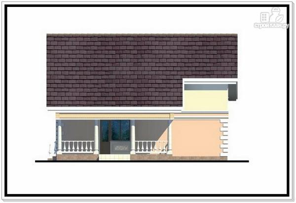 Фото 4: проект дом из пеноблоков с удлиненной крышей