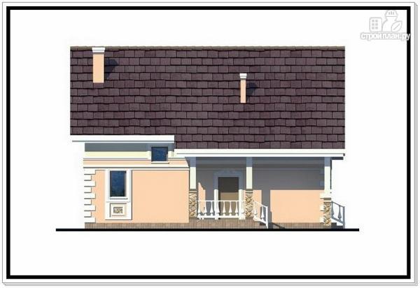 Фото 5: проект дом из пеноблоков с удлиненной крышей