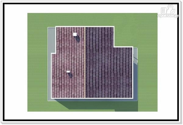 Фото 9: проект дом из пеноблоков с удлиненной крышей