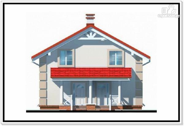 Фото 3: проект 1,5 этажный дом из пеноблоков с двускатной крышей