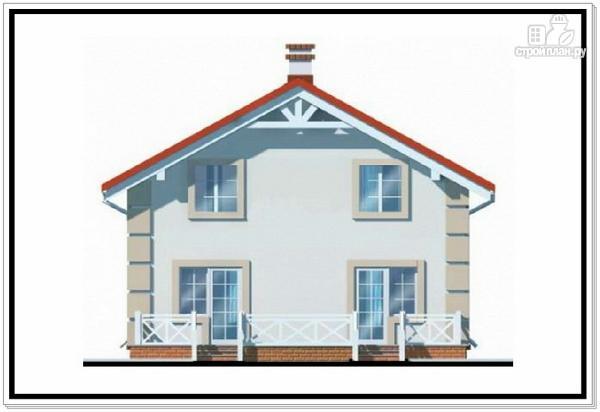 Фото 5: проект 1,5 этажный дом из пеноблоков с двускатной крышей