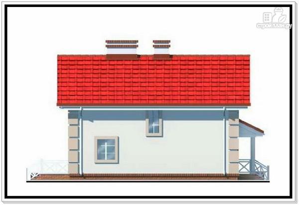 Фото 4: проект 1,5 этажный дом из пеноблоков с двускатной крышей