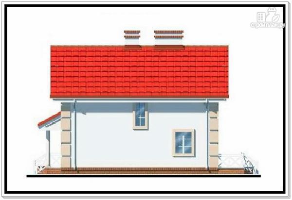 Фото 6: проект 1,5 этажный дом из пеноблоков с двускатной крышей